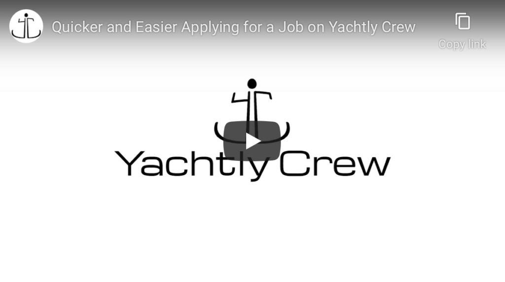 Apply for a Job in seconds on Yachtly Crew