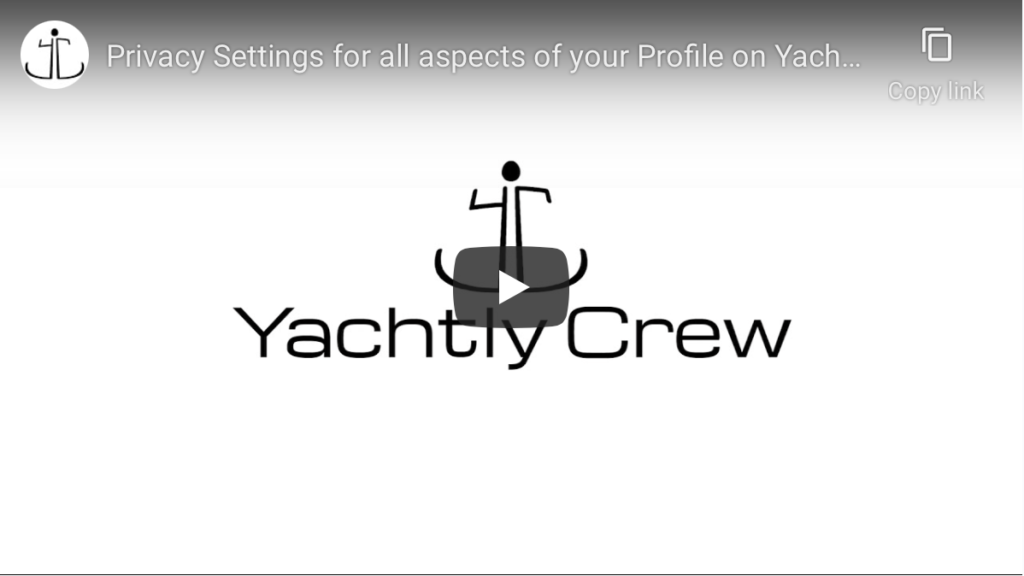 Layers of privacy-settings built into yachtly crew