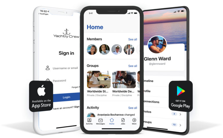 Yachtly Crew on iOS and Android